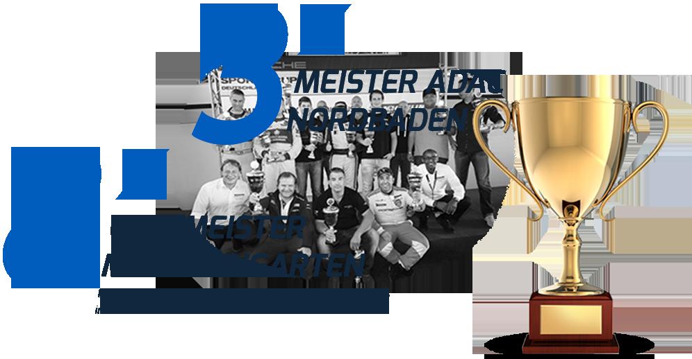 Erfolge Bertram Hornung - 7x Clubmeister MSC Weingarten & 3x ADAC Meister Nordbaden