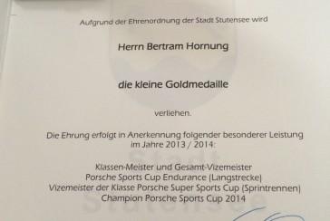 Zwei weitere Auszeichnungen für Bertram Hornung